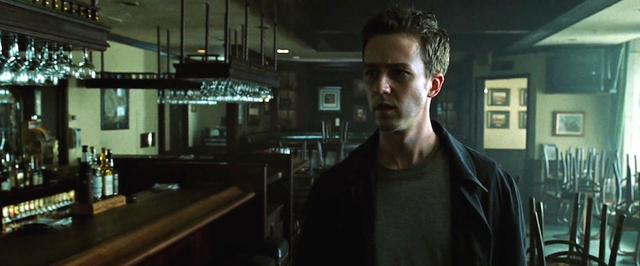 fight club bar scene script Fight club by chuck palahniuk chapter 1 tyler gets me a job as a waiter, after that tyler's pushing a gun in my mouth and saying, the first step to eternal life is.